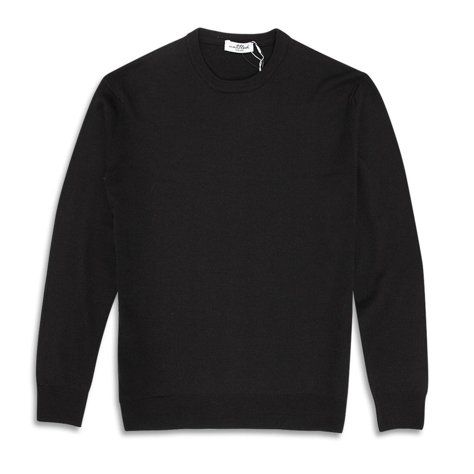 Untitled Atelier Crew Knitted Jumper - Black