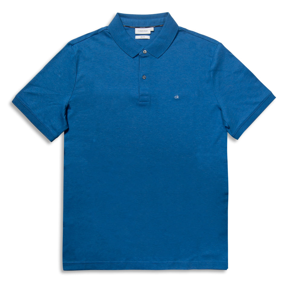 Calvin Klein 2 Tone Soft Interlock Polo - Navy Heather