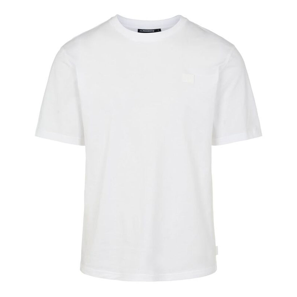 J.Lindeberg Dale Patch Logo T-Shirt White