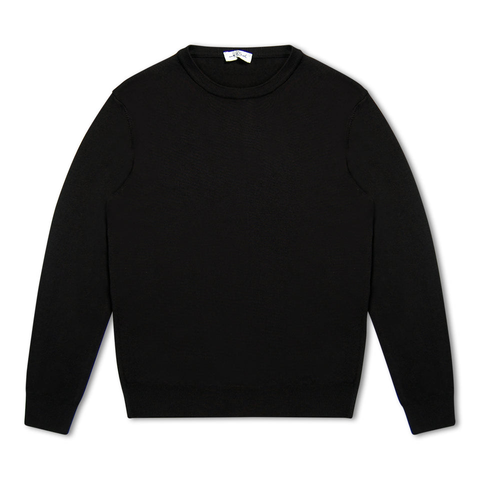 Untitled Atelier Merino Crew Neck Jumper - Navy