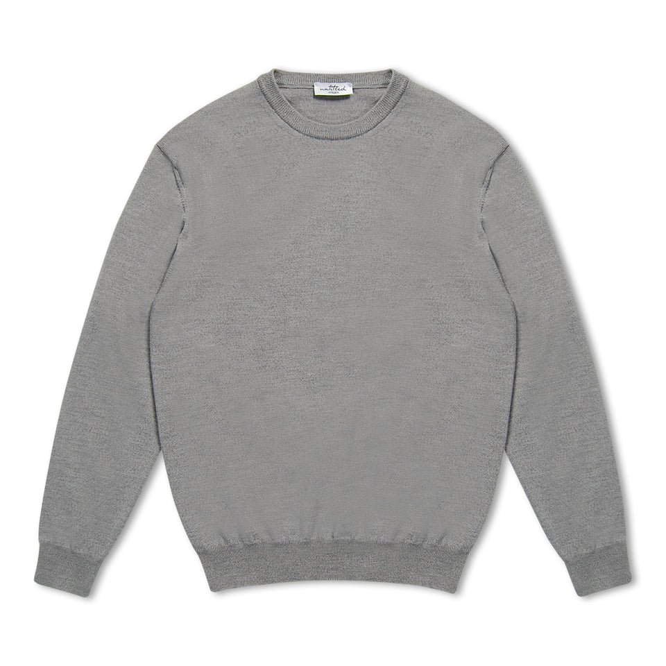 Untitled Atelier Merino Crew Neck Jumper - Grey