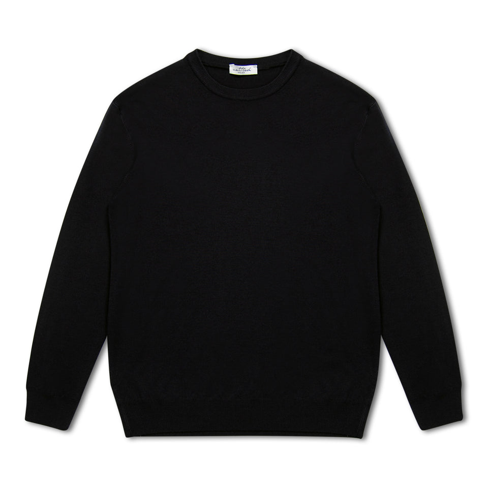 Untitled Atelier Merino Crew Neck Jumper - Black