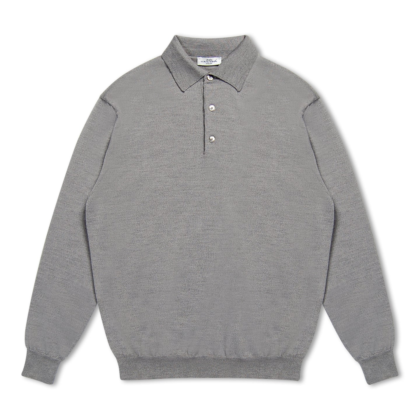Untitled Atelier LS Knitted Polo - Grey