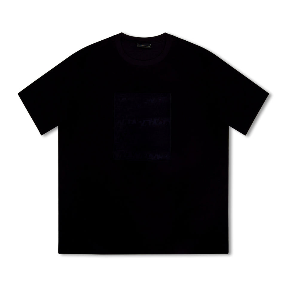 Emporio Armani Patch Print T-Shirt - Navy
