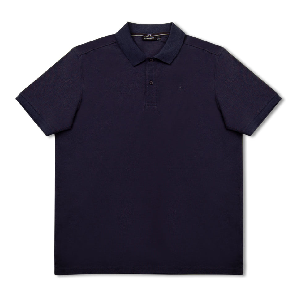 J.Lindeberg Troy Clean Pique Polo - Mid Blue
