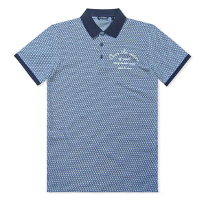 Blue/White Antony Morato Pattern Polo
