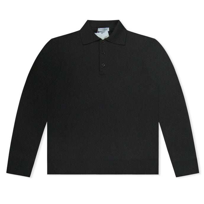 Untitled Atelier LS Knitted Polo - Black