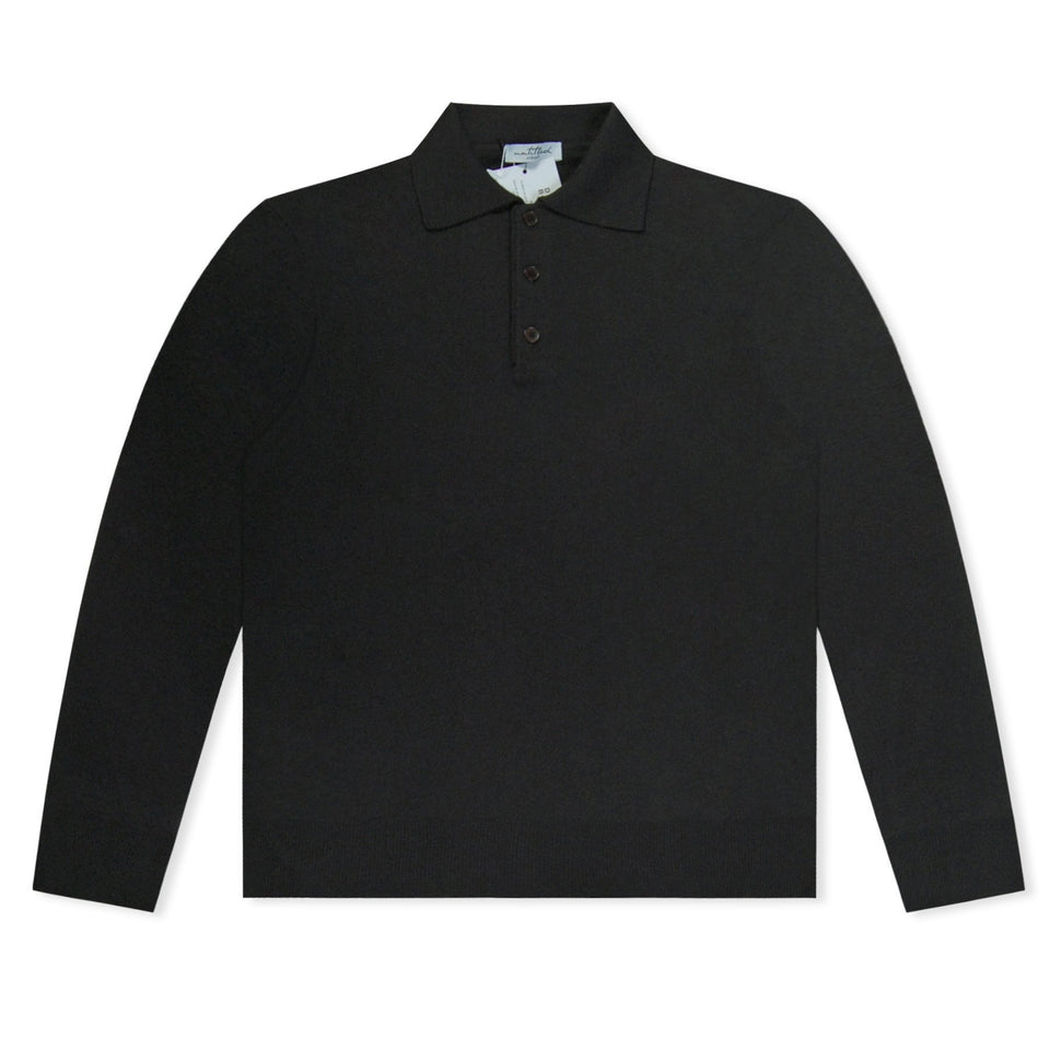 Untitled Atelier Knitted LS Polo - Black