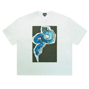 White Just Cavalli Abstract Snake Logo T-shirt