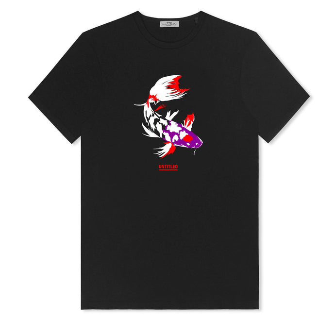 Black Untitled Atelier Fish T-shirt
