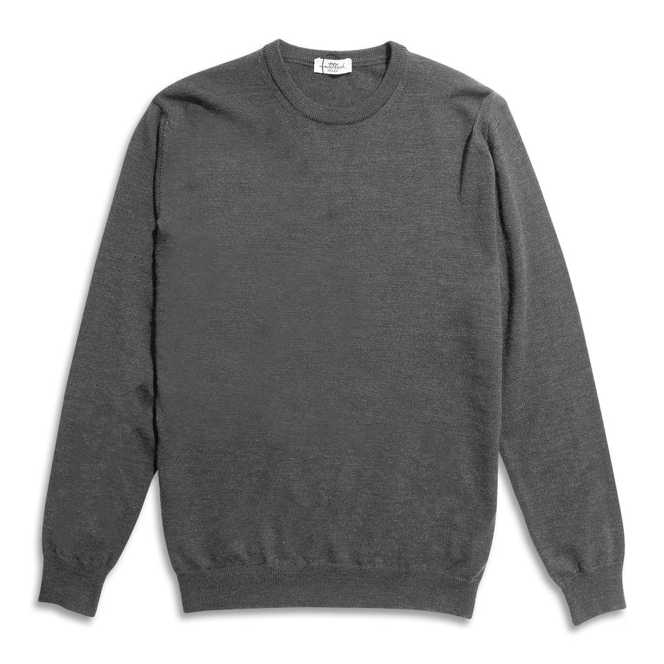 Untitled Atelier Crew Knitted Jumper - Charcoal