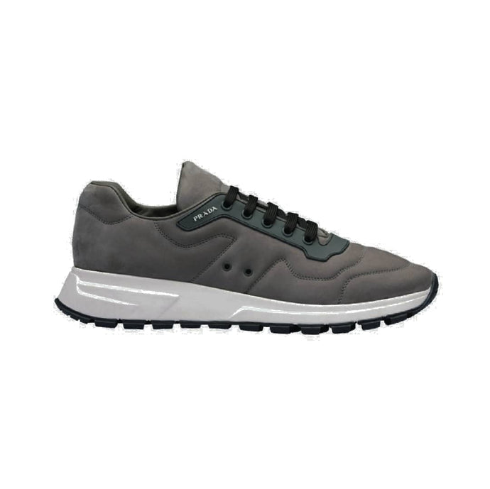 Anthracite Mens Prada Nubuck Trainers