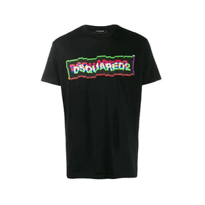 Black Dsquared2 Blurred Logo T-Shirt
