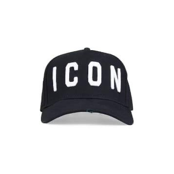 Black Dsquared2 Icon Cap