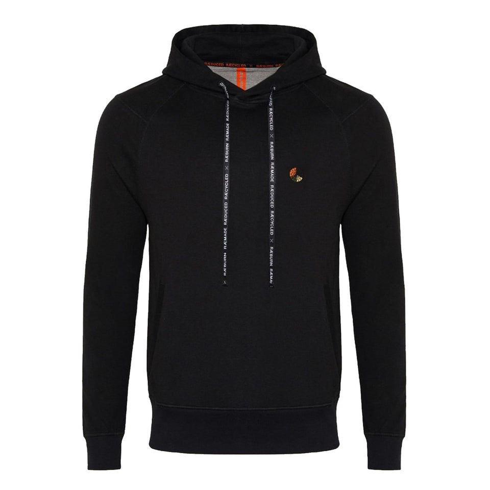 Raeburn Hooded Logo Sweat - Black