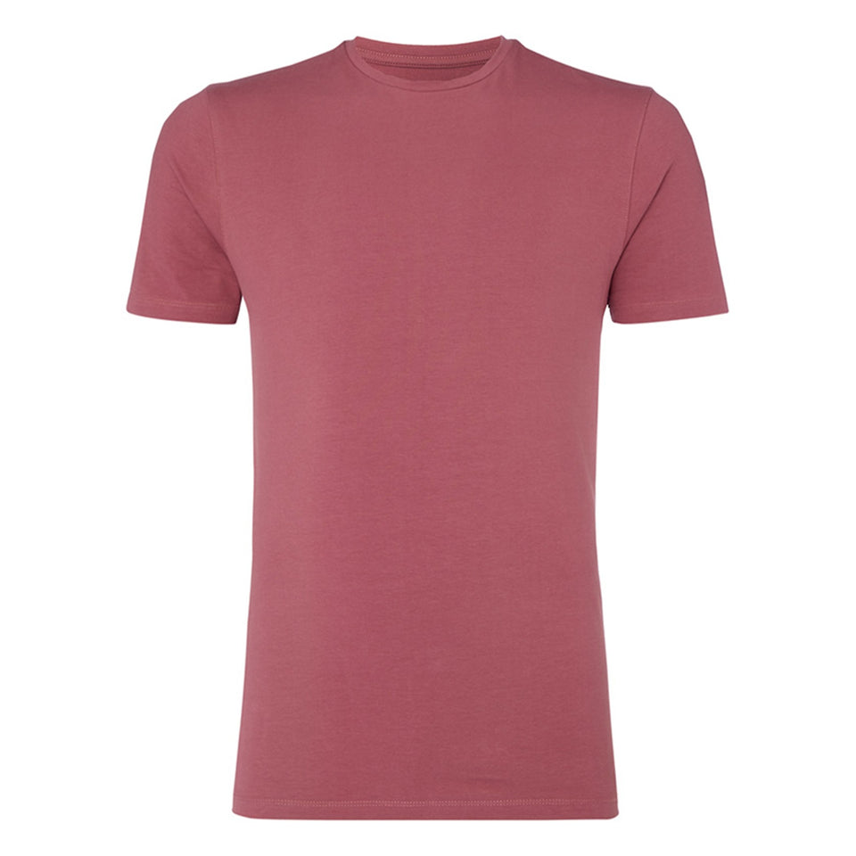 Remus Uomo Plain Basic T-Shirt - Berry