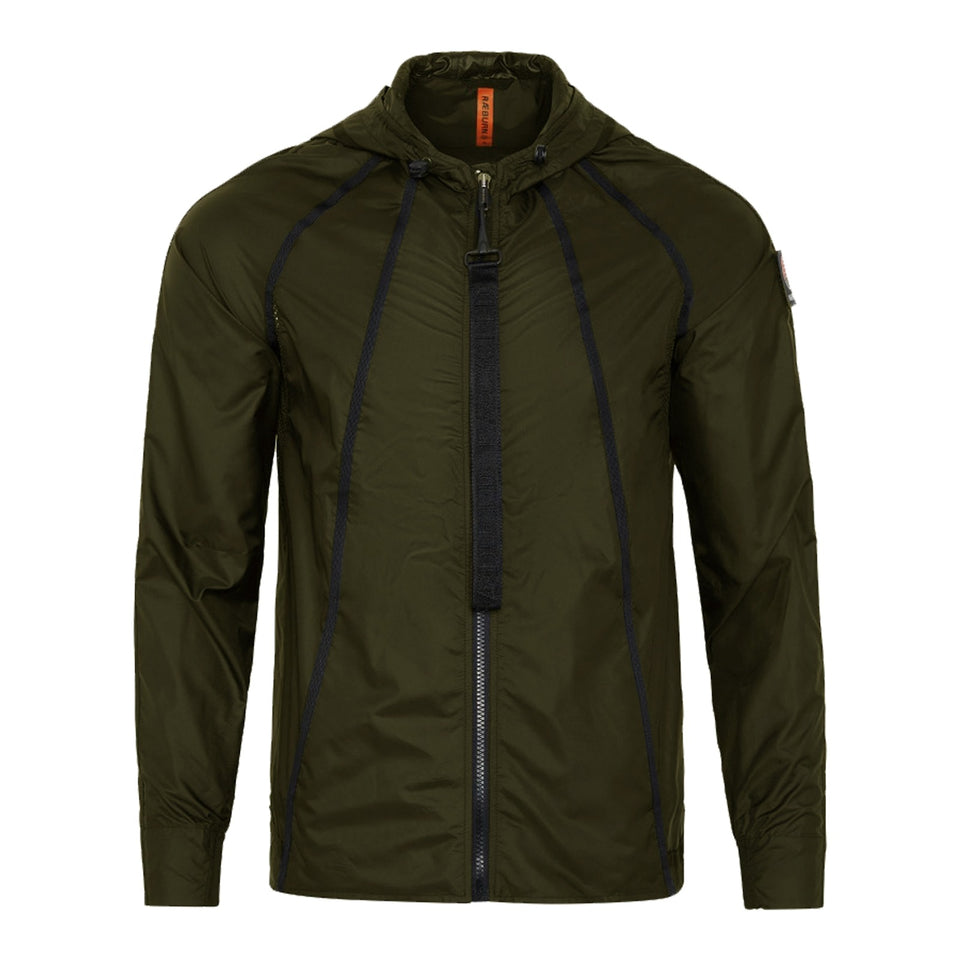 Raeburn Lightweight Hooded Windbreaker - Olive
