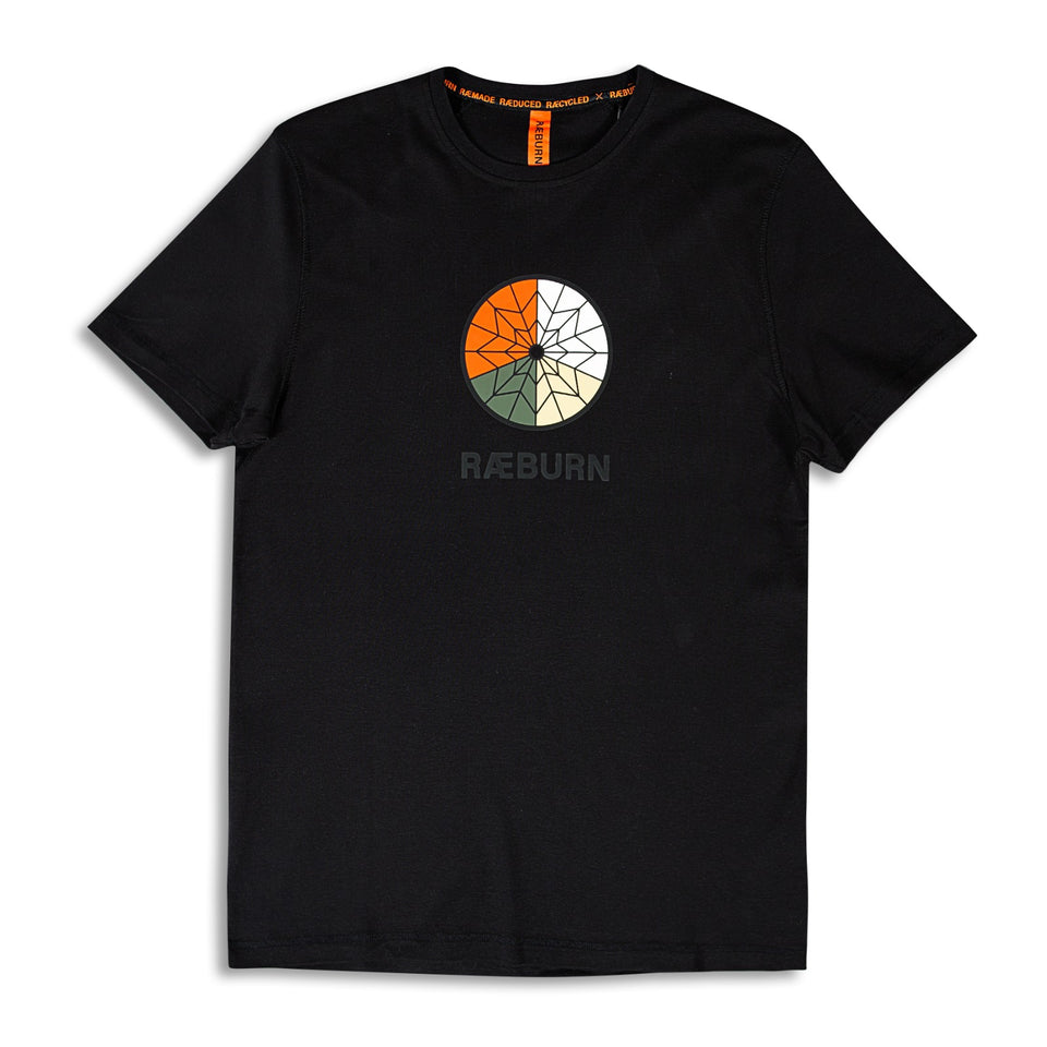Raeburn Parachute Graphic T-Shirt - Black