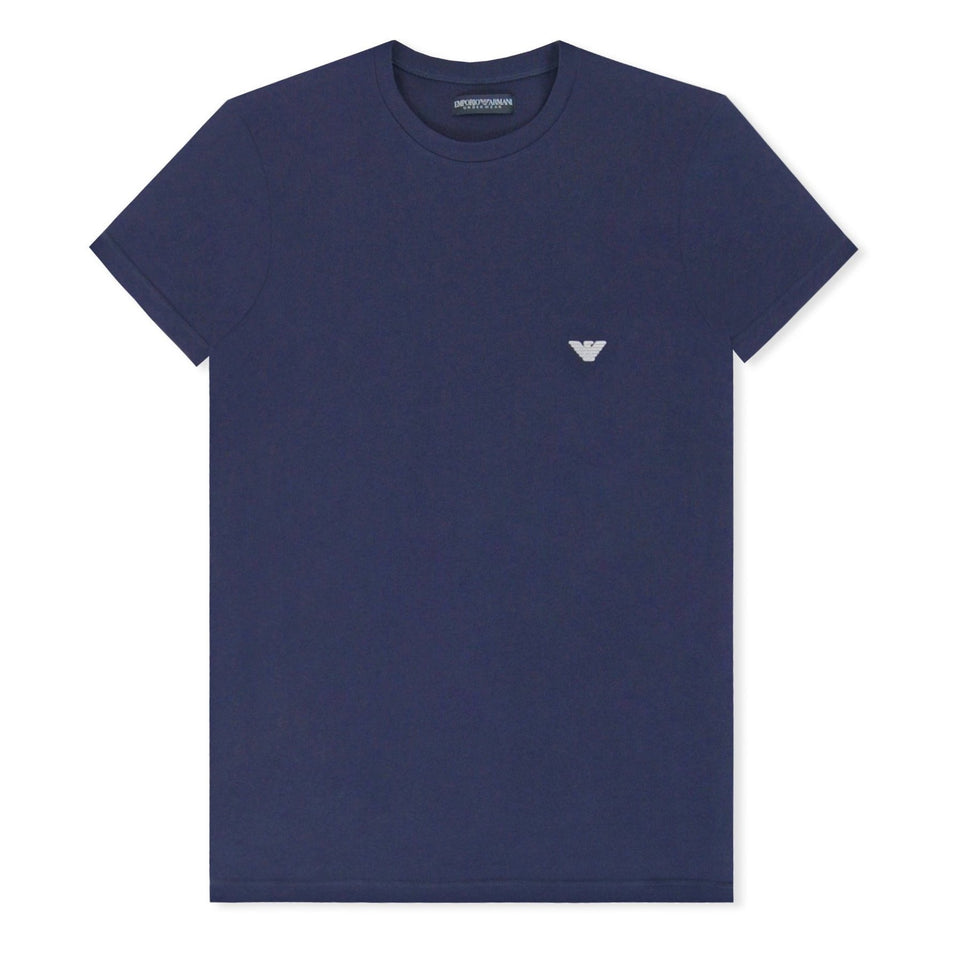 Emporio Armani Embroided Eagle T-Shirt - Navy