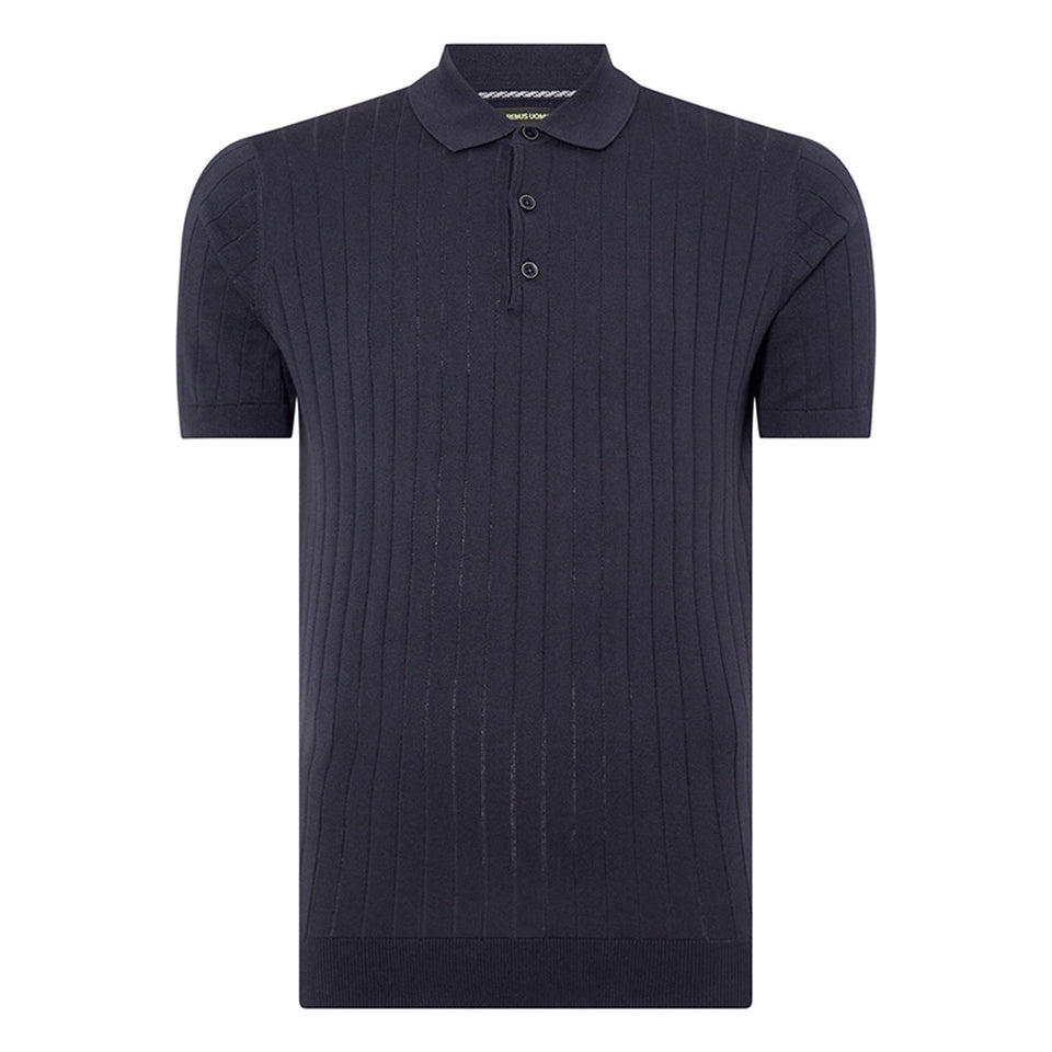 Remus Uomo Knitted SS Polo Navy
