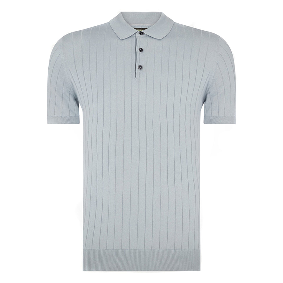 Remus Uomo Knitted SS Polo Sky