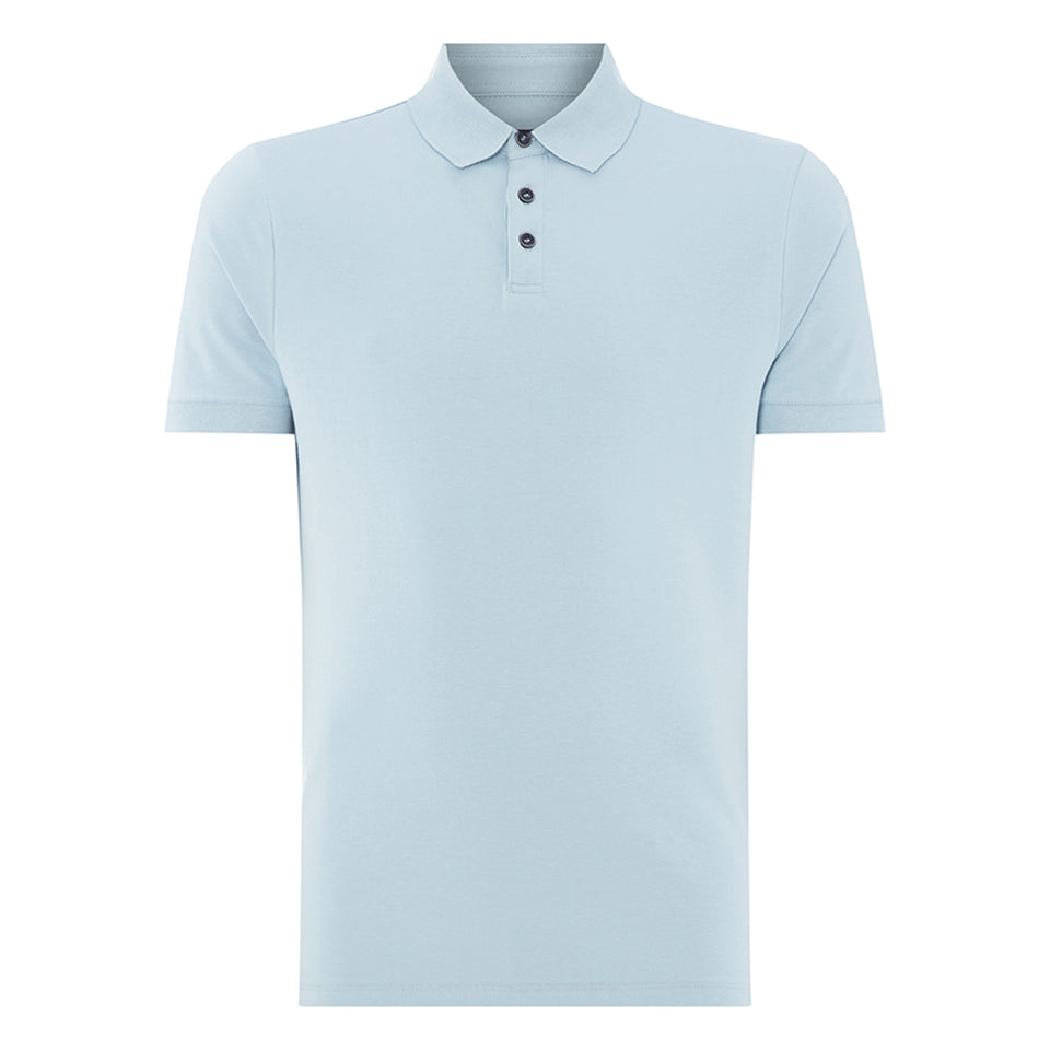 Remus Uomo Cotton SS Polo Sky