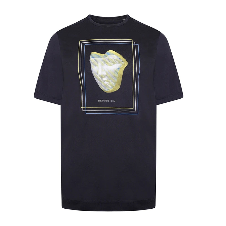 REPUBLICA Zamora Face T-Shirt Navy