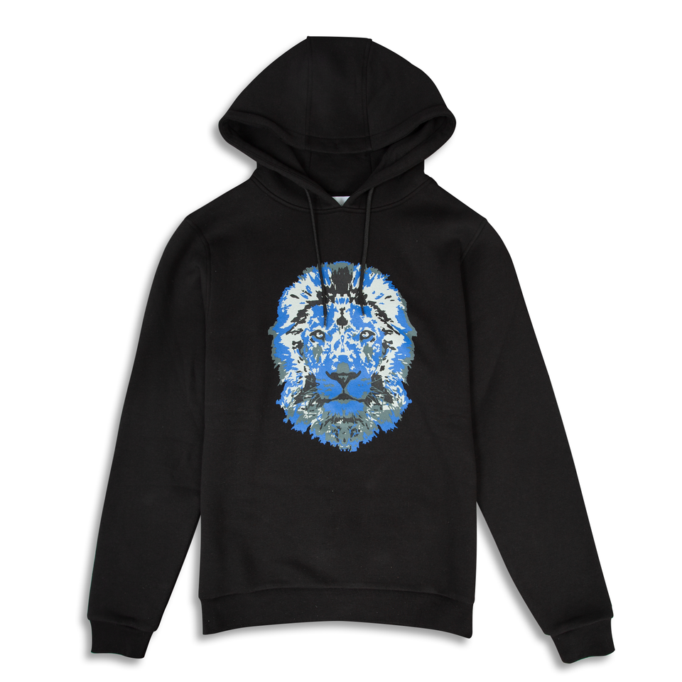 Untitled Atelier Lion Printed Hoodie - Black
