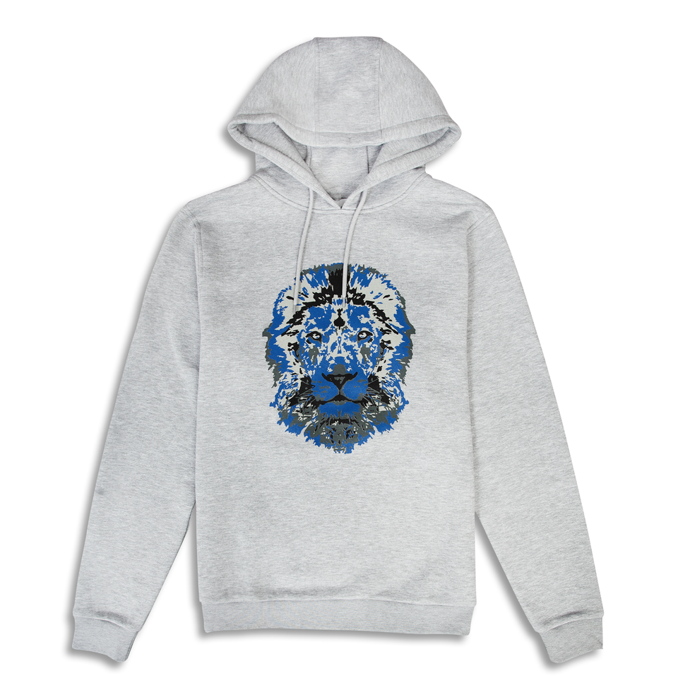 Untitled Atelier Lion Printed Hoodie - Grey