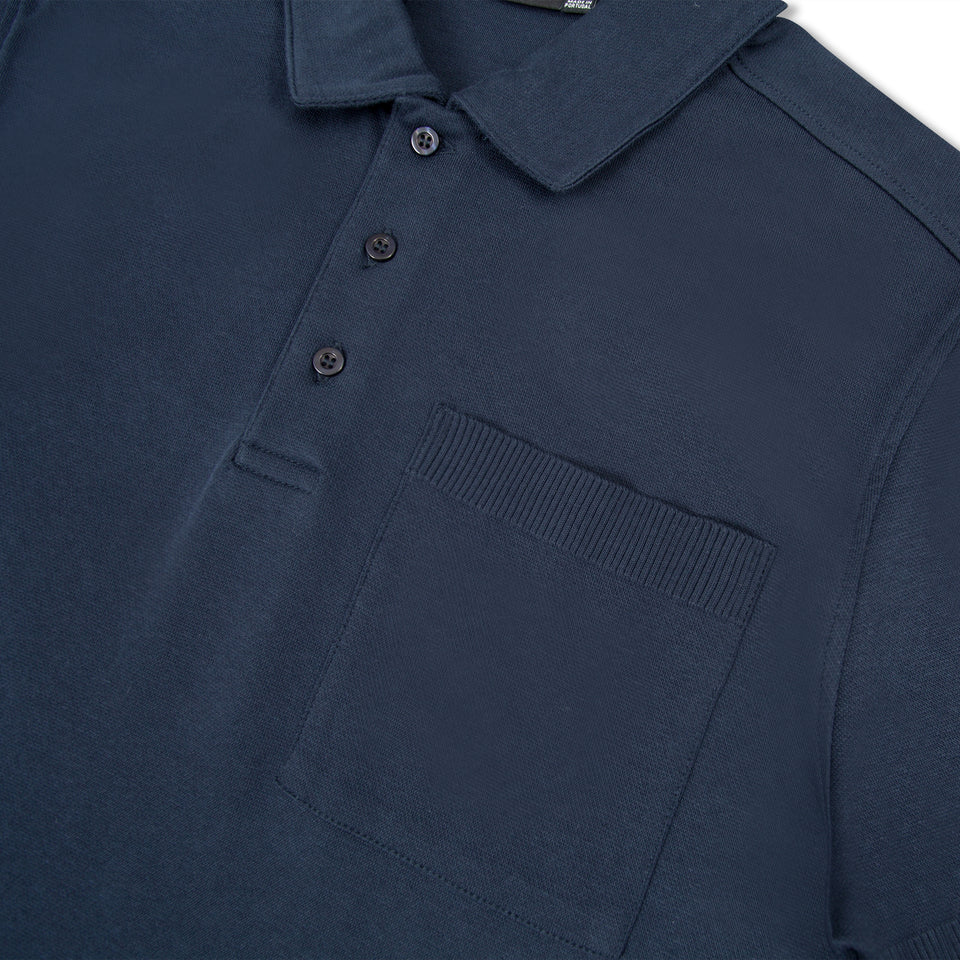 J.Lindeberg Dax Patch Pocket Polo - Navy