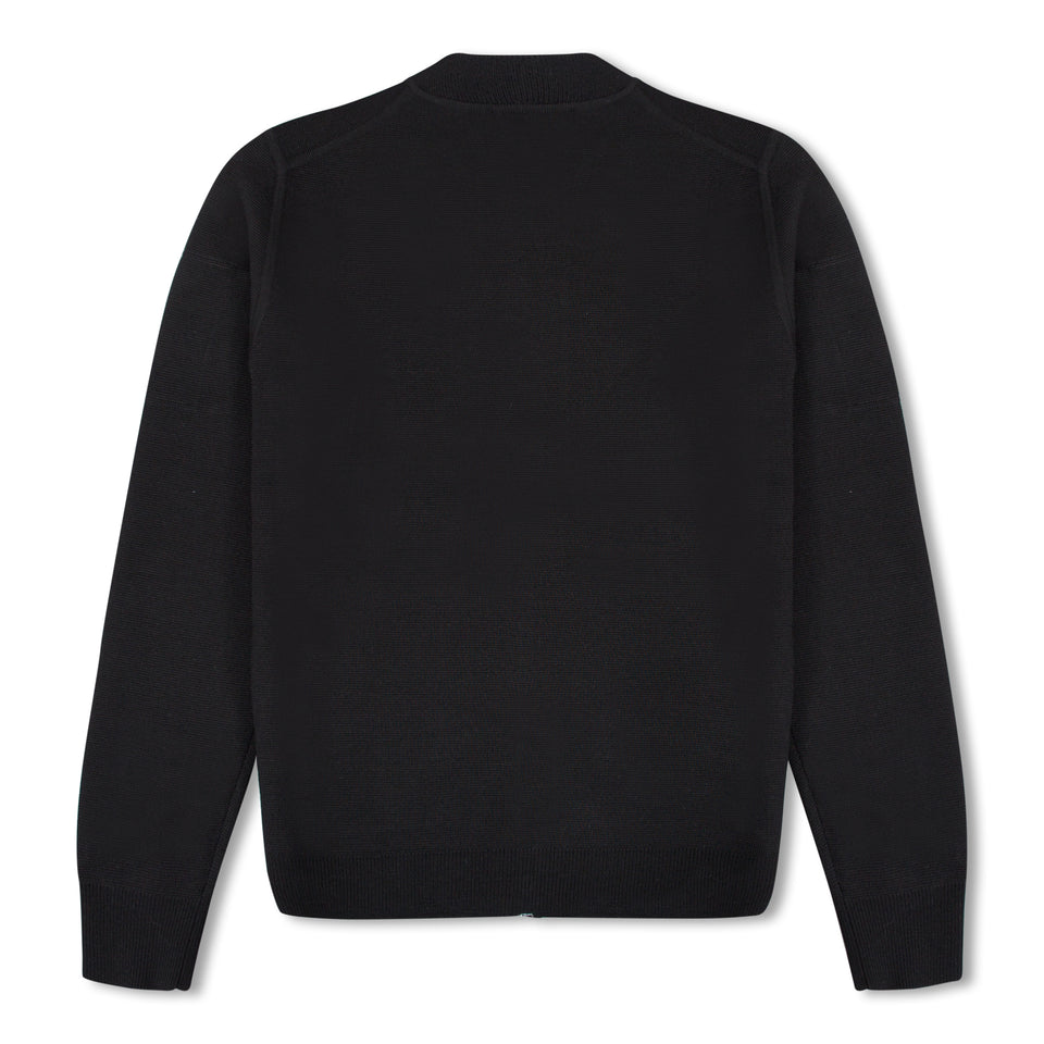 J.Lindeberg Landon Zip Cardigan - Black
