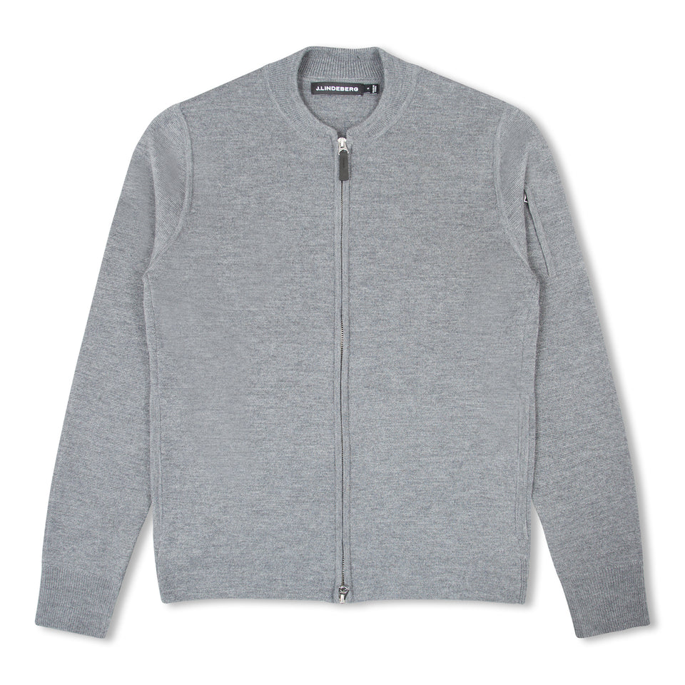 J.Lindeberg Landon Zip Cardigan - Grey