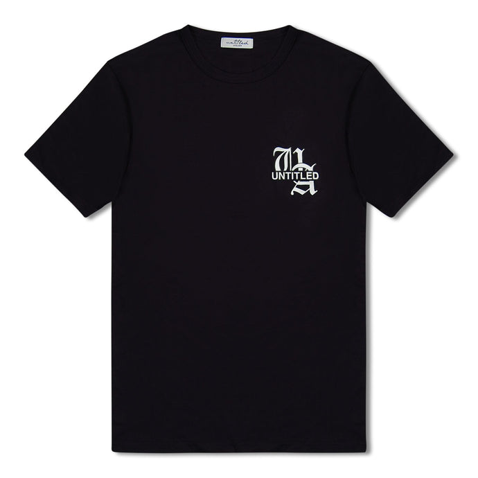 Black Untitled Atelier Chest Logo T-Shirt