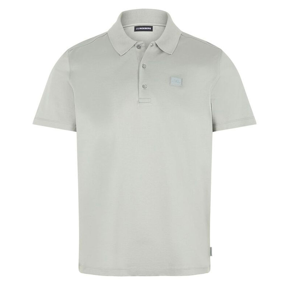 J.Lindeberg Miles Jersey Polo Mid Grey