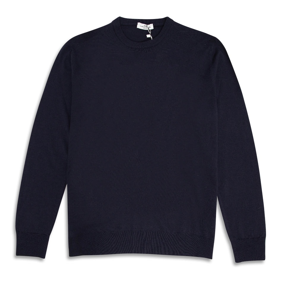 Untitled Atelier Crew Knitted Jumper - Navy