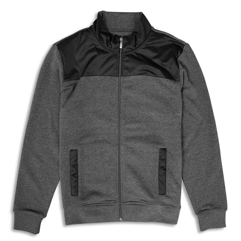Remus Uomo Panelled Zip Sweatshirt - Grey/Black