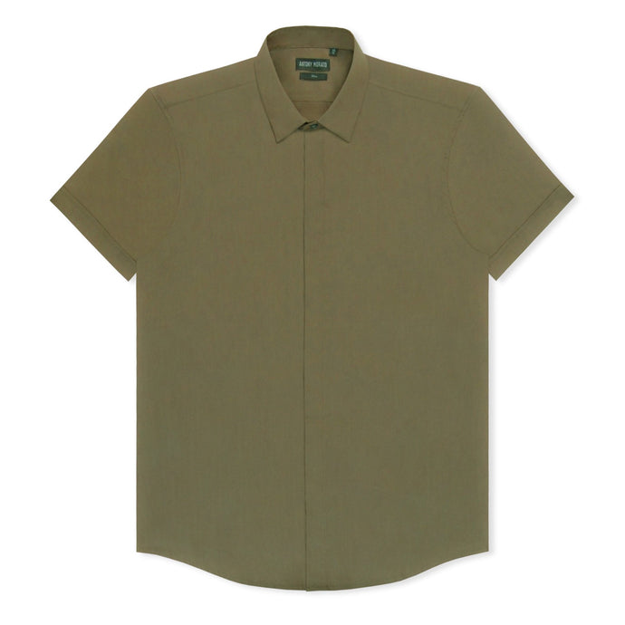 Army Green Antony Morato Slim Shirt