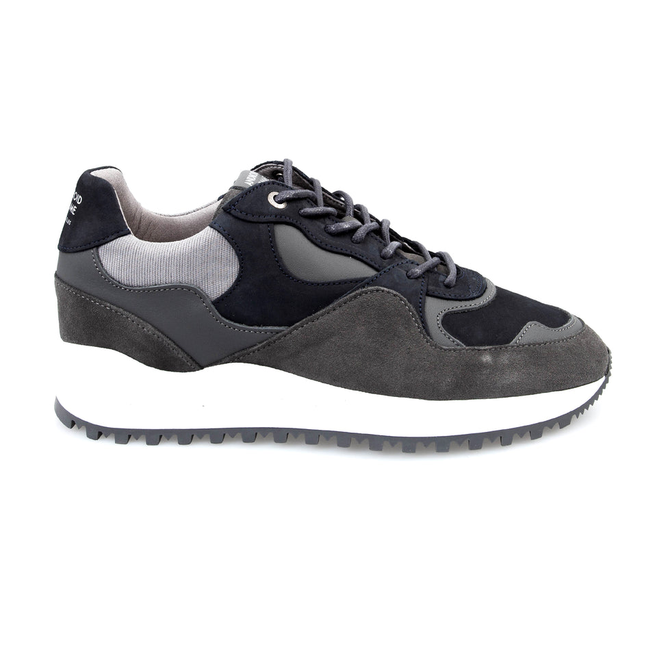 Android Homme Santa Monica Nubuck Trainers - Grey Slate