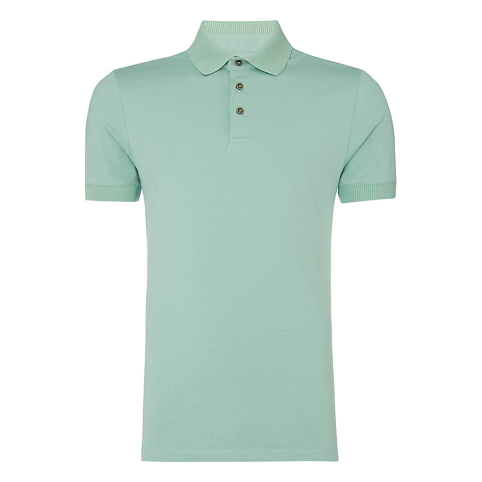 Remus Uomo Plain Polo - Green