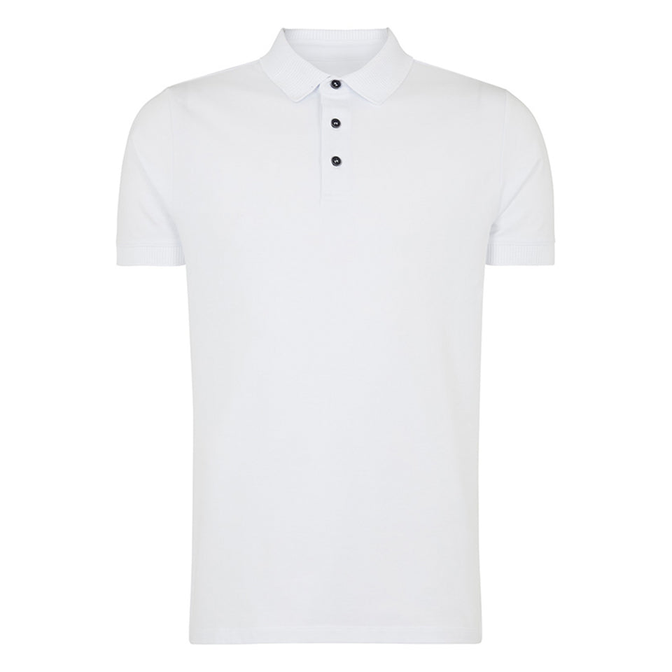 Remus Uomo Plain Polo - White