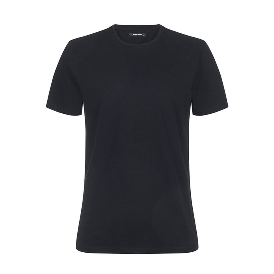 Remus Uomo Plain Basic T-Shirt - Black