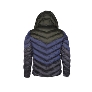 Navy/Grey 7TH HVN Chevron Bubble Coat