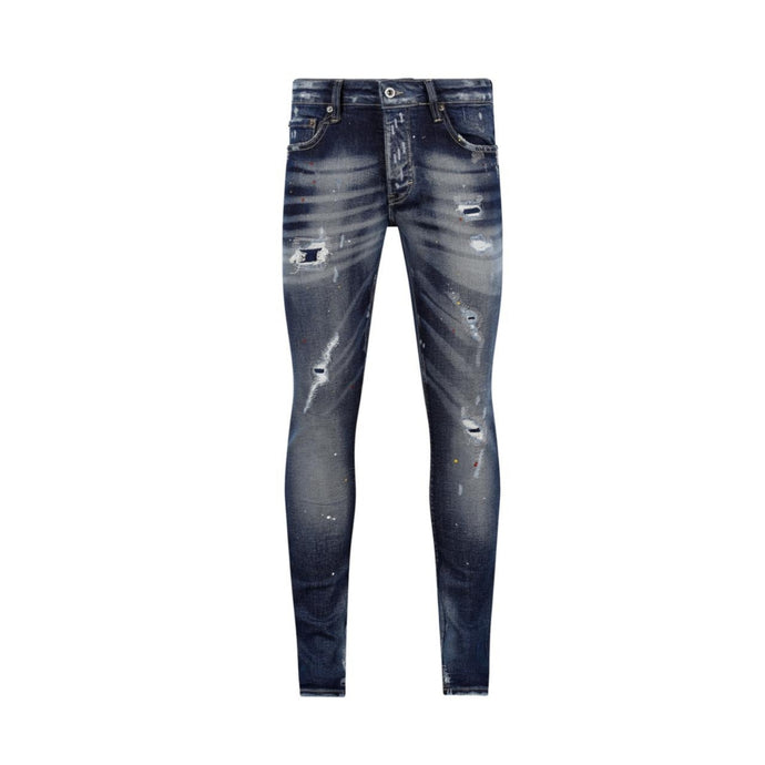 Dark Blue 7TH HVN Ripped Faded Slim Jeans