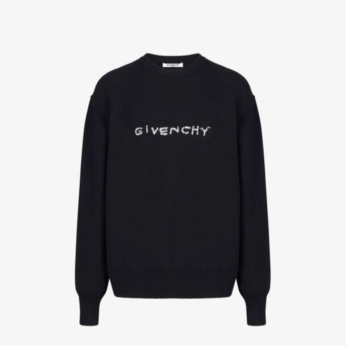 Givenchy Embroidered Wool Sweater - Black