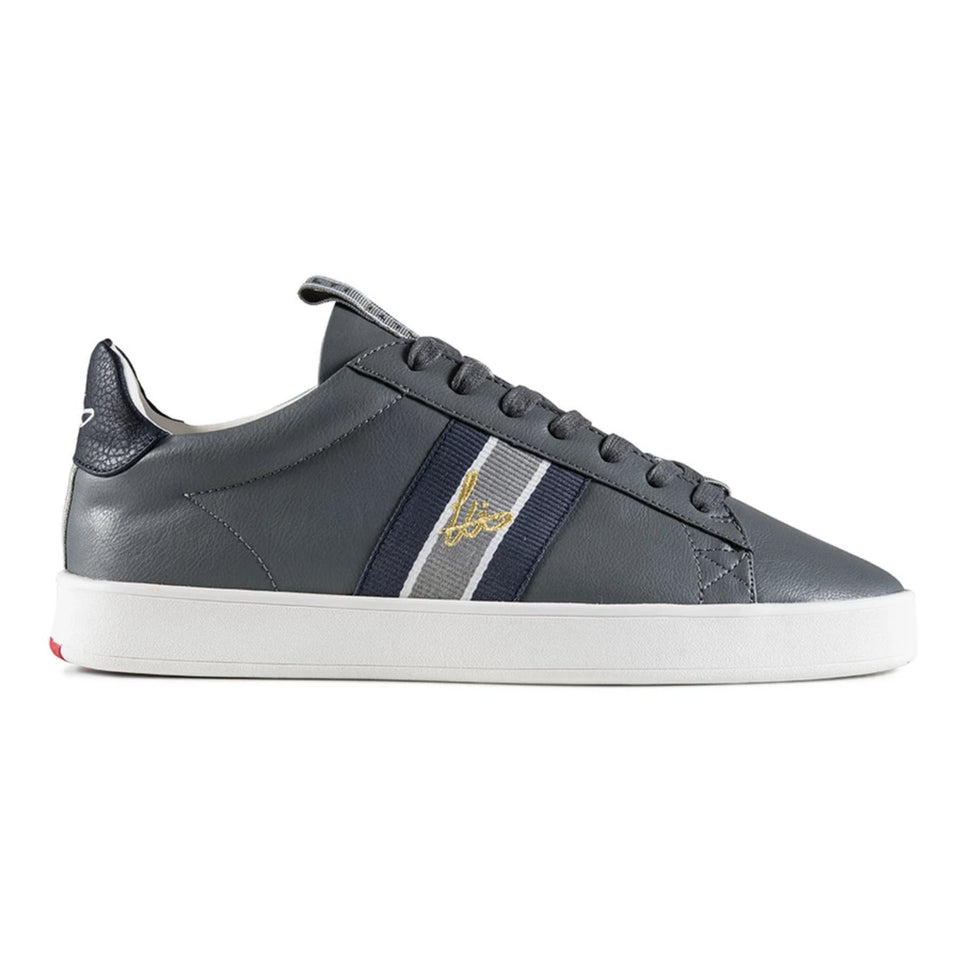 Loyalti Legit Cup Webbing Trainers - Grey/Navy