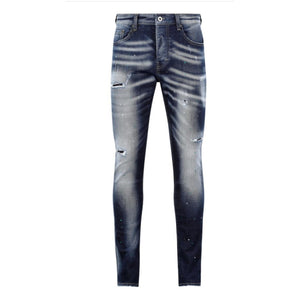 7TH HVN Rinsed Ripped Jeans - Light Blue