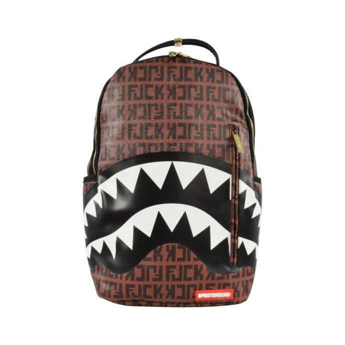 Sprayground Offended Sharks Backpack - Brown
