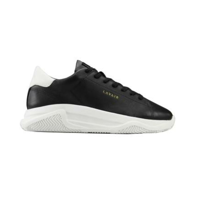 Lavair Linear Leather Trainers - Black