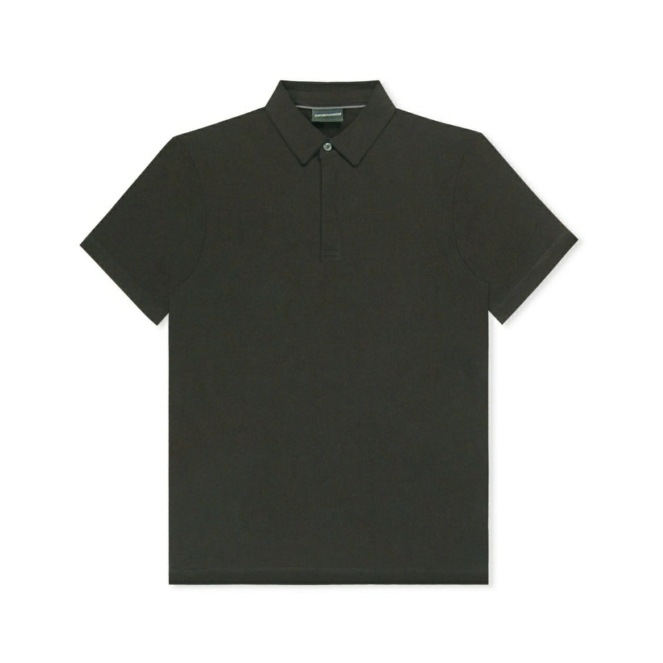Emporio Armani Soft Stretch Polo - Black