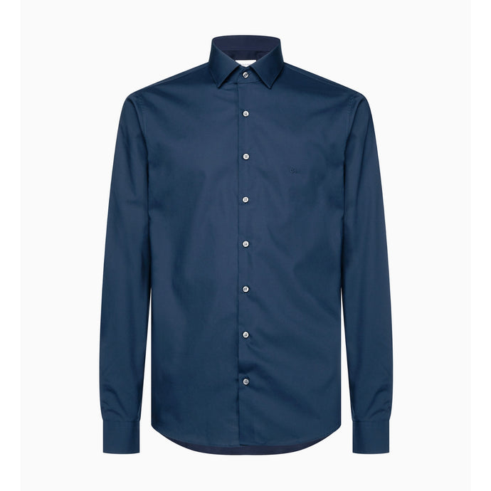 Calvin Klein Cannes Fitted Long Sleeve Shirt - Midnight Blue